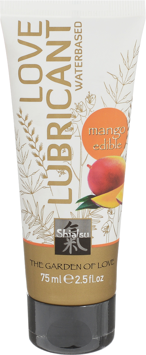 Shiatsu Гель лубрикант на водной основе с ароматом «Манго» 75 мл съедобный лубрикант на водной основе со вкусом личи 75 мл