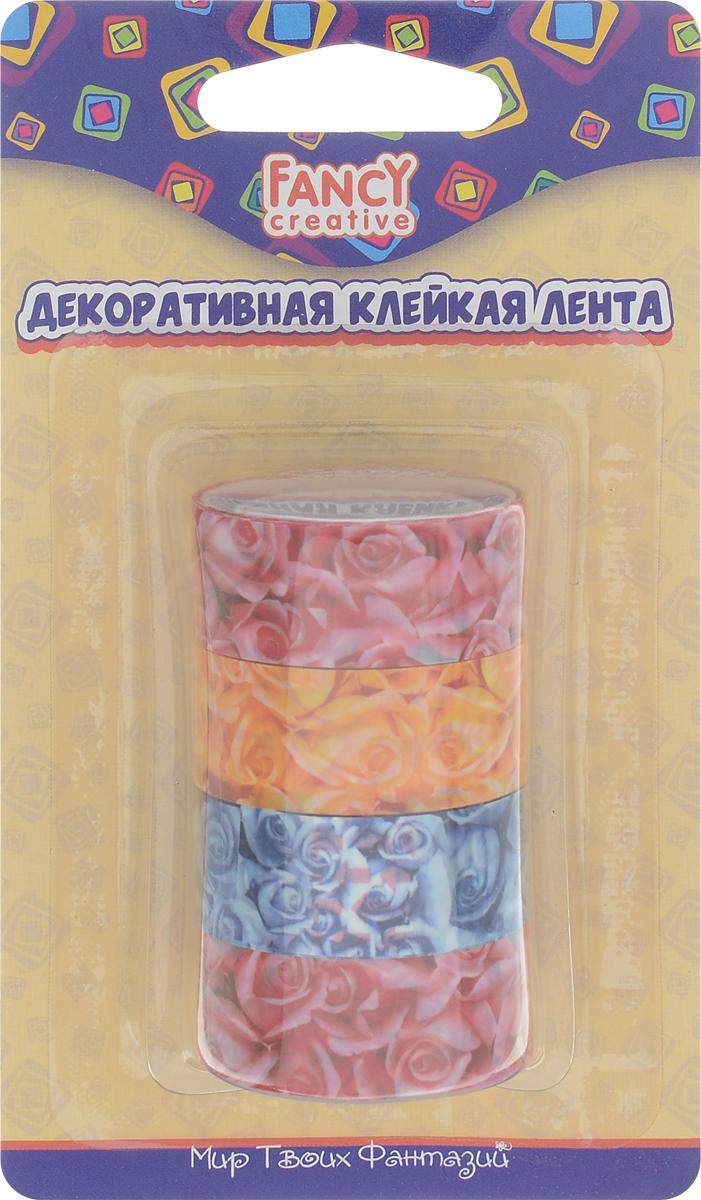 Набор декоративной клейкой ленты Fancy, 4 шт. FD020074 лента stayer profi клейкая противоскользящая 50мм х 5м 12270 50 05