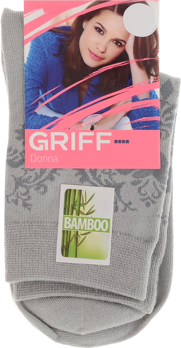 Носки женские Griff Орнамент, цвет: светло-серый. D28. Размер 35/38D28_орнаментЖенские носки Griff Орнамент изготовлены из высококачественного сырья. Носки очень мягкие на ощупь, а широкая резинка плотно облегает ногу, не сдавливая ее, благодаря чему вам будет комфортно и удобно. Усиленная пятка и мысок обеспечивают надежность и долговечность.Носки на паголенке оформлены цветочным орнаментом.Уважаемые клиенты!Обращаем ваше внимание на возможные изменения в дизайне упаковки. Качественные характеристики товара остаются неизменными. Поставка осуществляется в зависимости от наличия на складе.