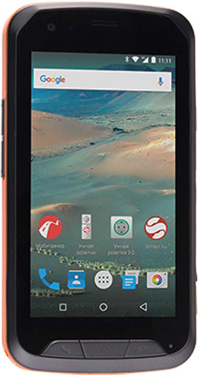 Senseit R450, OrangeSENSEIT R450 оранжевыйСмартфон Senseit R450 создан для людей, ведущих активный образ жизни!Защита IP67 позволит не беспокоиться о сохранности устройства даже в самых экстремальных условиях. Смартфон полностью защищён от проникновения пыли и способен выдержать погружение в воду и снег, а также противостоять ударам и падениям.Батарея 3000 мАч позволит вам оставаться на связи без подзарядки до 25 дней! А поддержка технологии 4G/LTE обеспечит высокую скорость работы с сетью.На корпусе присутствуют 4 механические кнопки, при помощи которых можно пользоваться функциями приёма/отбоя вызова, включать фонарик или камеру, не снимая перчатки.Телефон сертифицирован EAC и имеет русифицированный интерфейс меню и Руководство пользователя.
