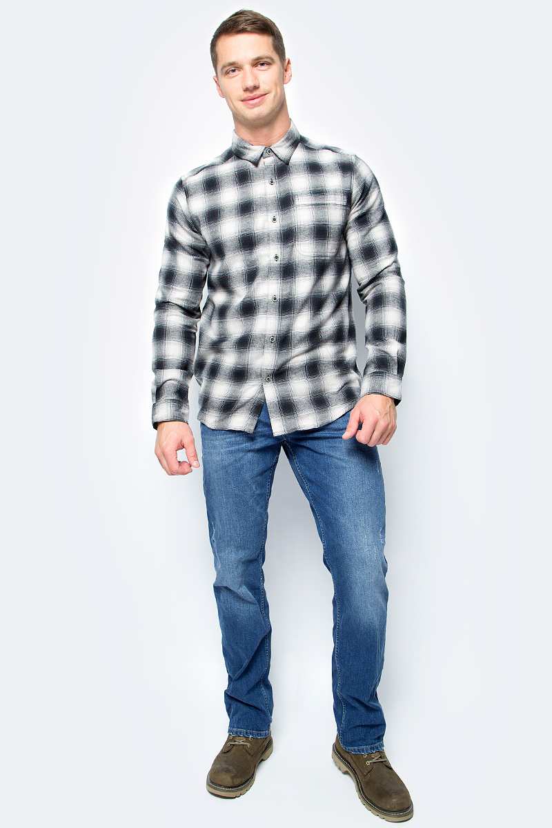 Рубашка мужская Columbia Boulder Ridge Ls Flannel Shirt, цвет: черный. 1735502-011. Размер XXL (56/58) рубашка мужская columbia silver ridge ss shirt цвет бежевый 1441661 265 размер l 48 50