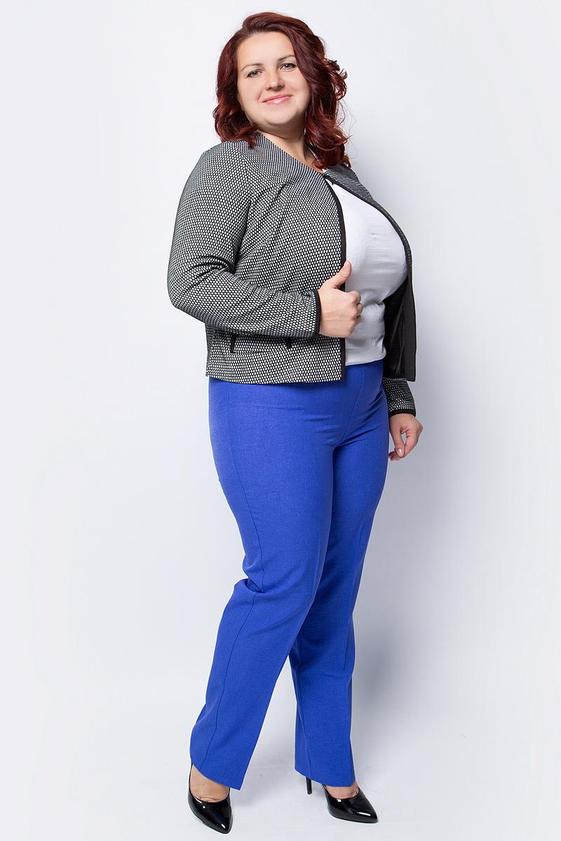 Брюки женские Fill Омега, цвет: индиго. ФИЛ-Омега035. Размер 52ФИЛ-Омега035Яркие брюки, выполненные из эластичной вискозы, дополнят ваш образ и подчеркнут индивидуальность. Модель со стандартной посадкой на талии дополнены эластичным поясом.