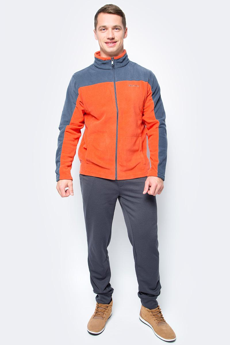 Толстовка мужская Columbia Western Ridge Full Zip M, цвет: оранжевый, серый. 1736711-835. Размер XXL (56/58) columbia рубашка с длинным рукавом мужская columbia boulder ridge
