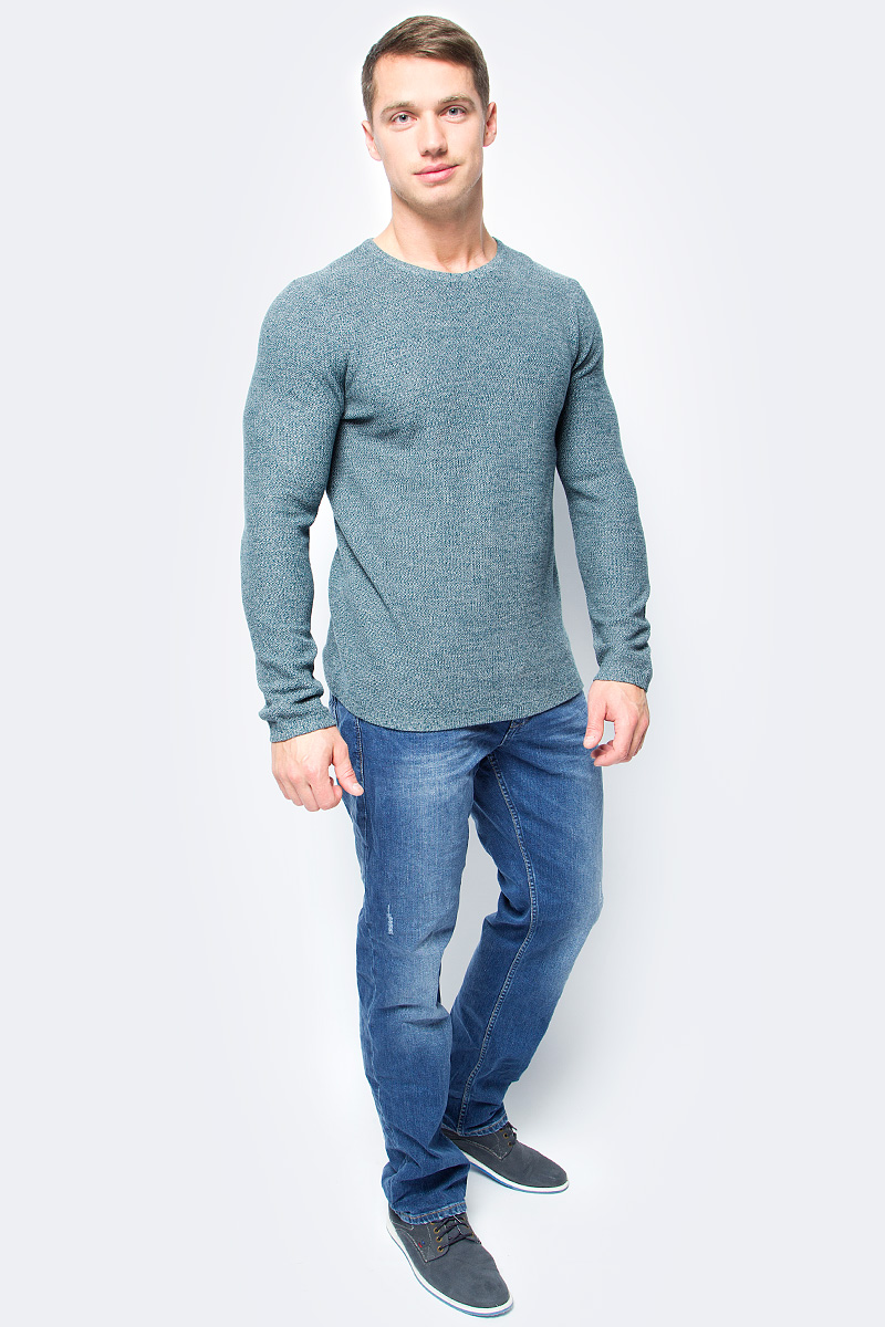 Джемпер мужской Tom Tailor, цвет: зеленый. 3022830.00.10_7822. Размер XL (52) джемпер мужской tom tailor denim цвет бордовый 3022104 01 12 4257 размер xl 52