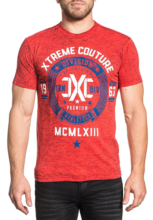 Футболка мужская Affliction Xtreme Couture Extreme Athletics, цвет: красный. X1673. Размер M (48) moschino couture сандалии