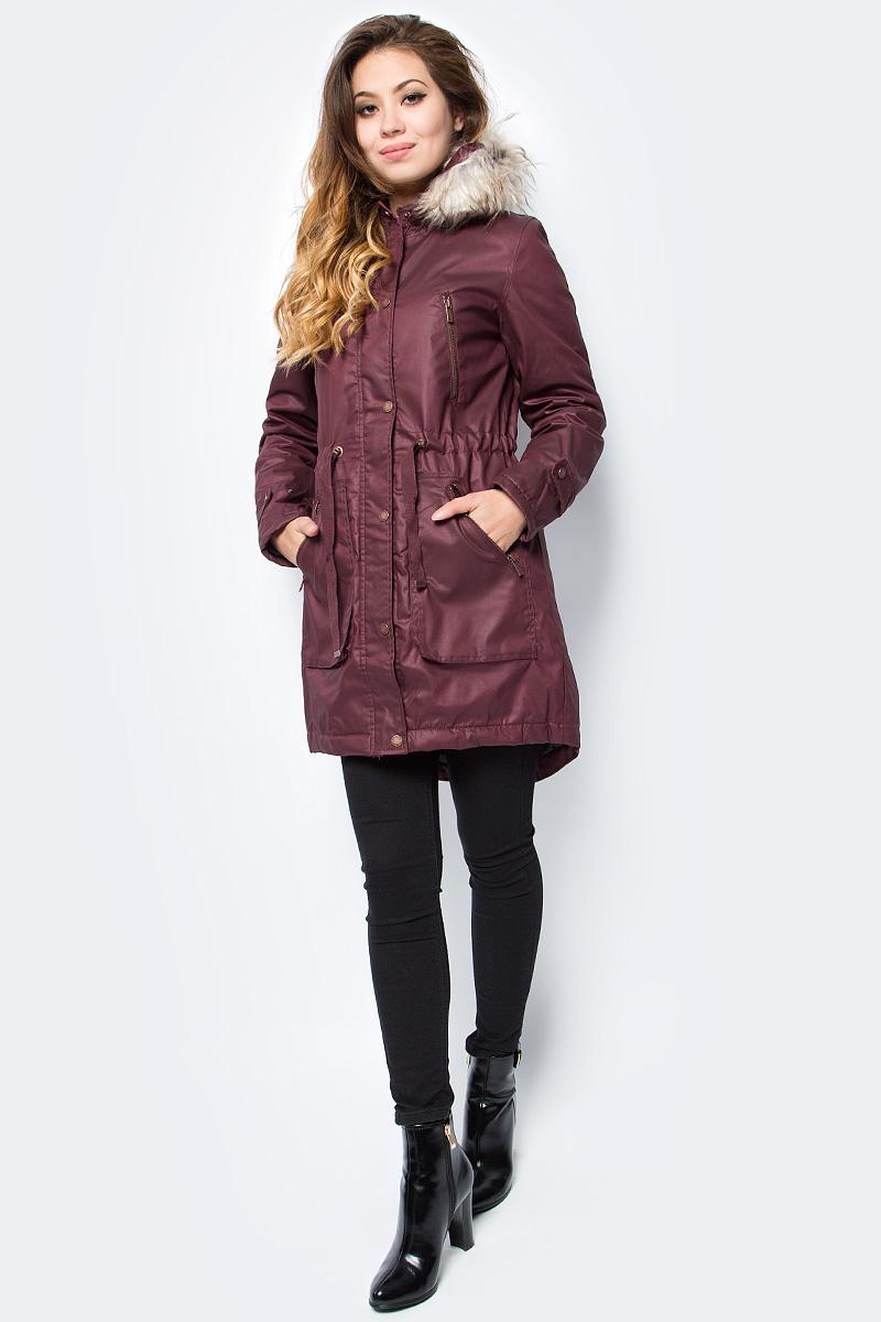 Куртка женская Top Secret, цвет: красный. SKU0809CE. Размер 40 (50)SKU0809CE