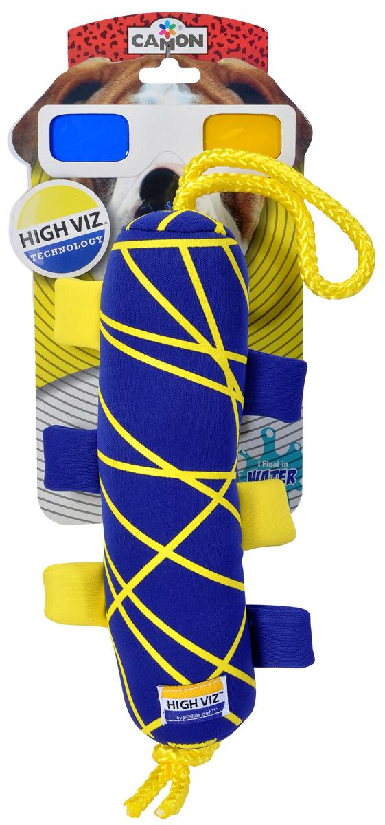 Игрушка для собак Camon High VIZ. Апорт, 23 смAH503/EИгрушка для водных игр, не тонет, сине-желтая для лучшей видимости