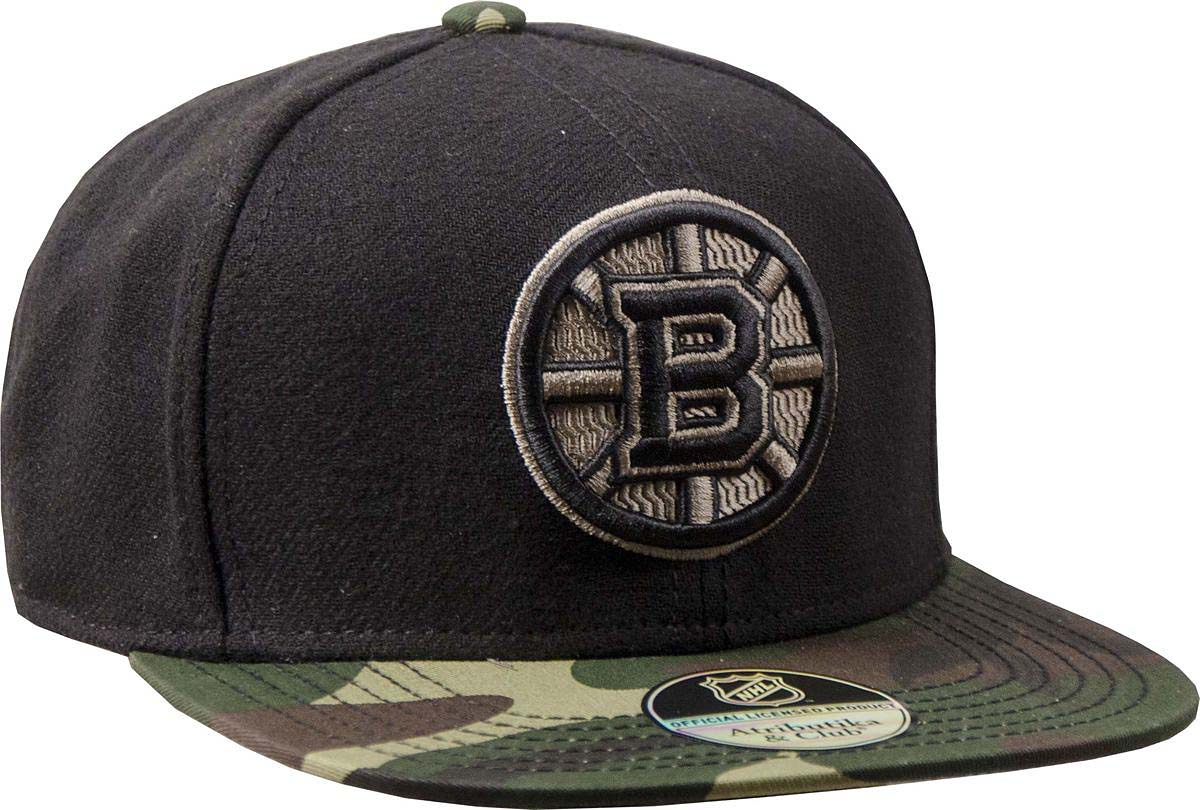 Бейсболка Atributika & Club Boston Bruins, цвет: черный. 29075. Размер 55/5829075Бейсболка выполнена из высококачественного материала. Модель дополнена широким твердым козырьком и оформлена объемной вышивкой.