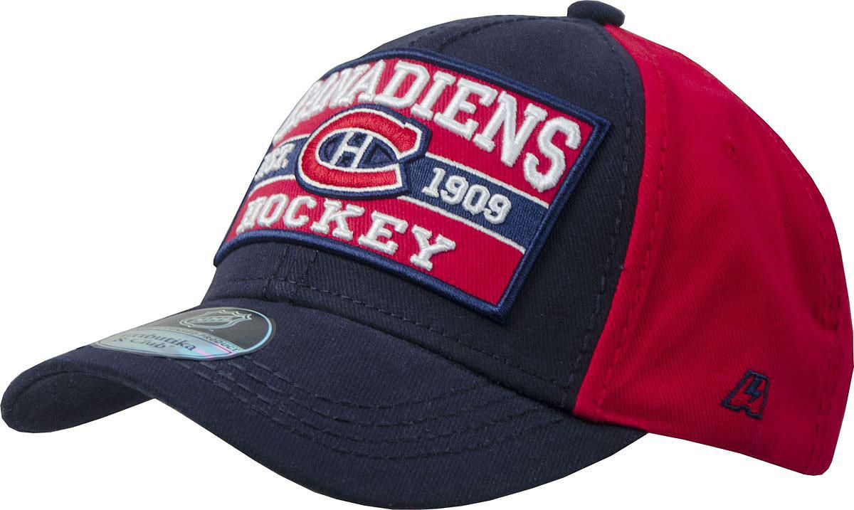 Бейсболка Atributika & Club Monreal Canadiens, цвет: черный, красный. 29095. Размер 55/5829095Бейсболка выполнена из высококачественного материала. Модель дополнена широким твердым козырьком и оформлена объемной вышивкой.