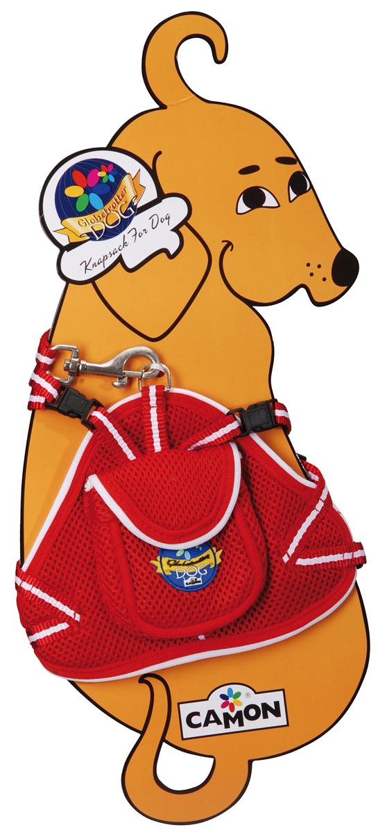 Шлейка для собак Camon, с поводком, цвет: красный, 40 см. Размер SDC034/A