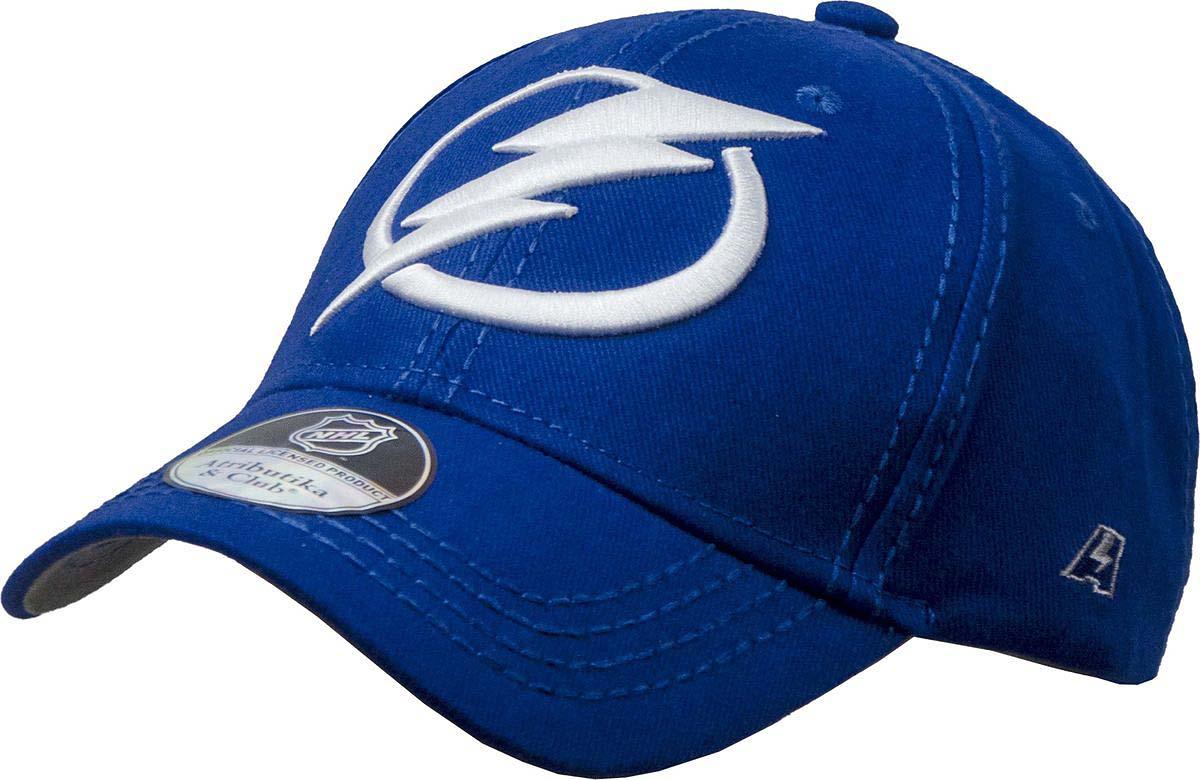 Бейсболка Atributika & Club Tampa Bay Lightning, цвет: синий. 29092. Размер 55/5829092Бейсболка выполнена из высококачественного материала. Модель дополнена широким твердым козырьком и оформлена объемной вышивкой.