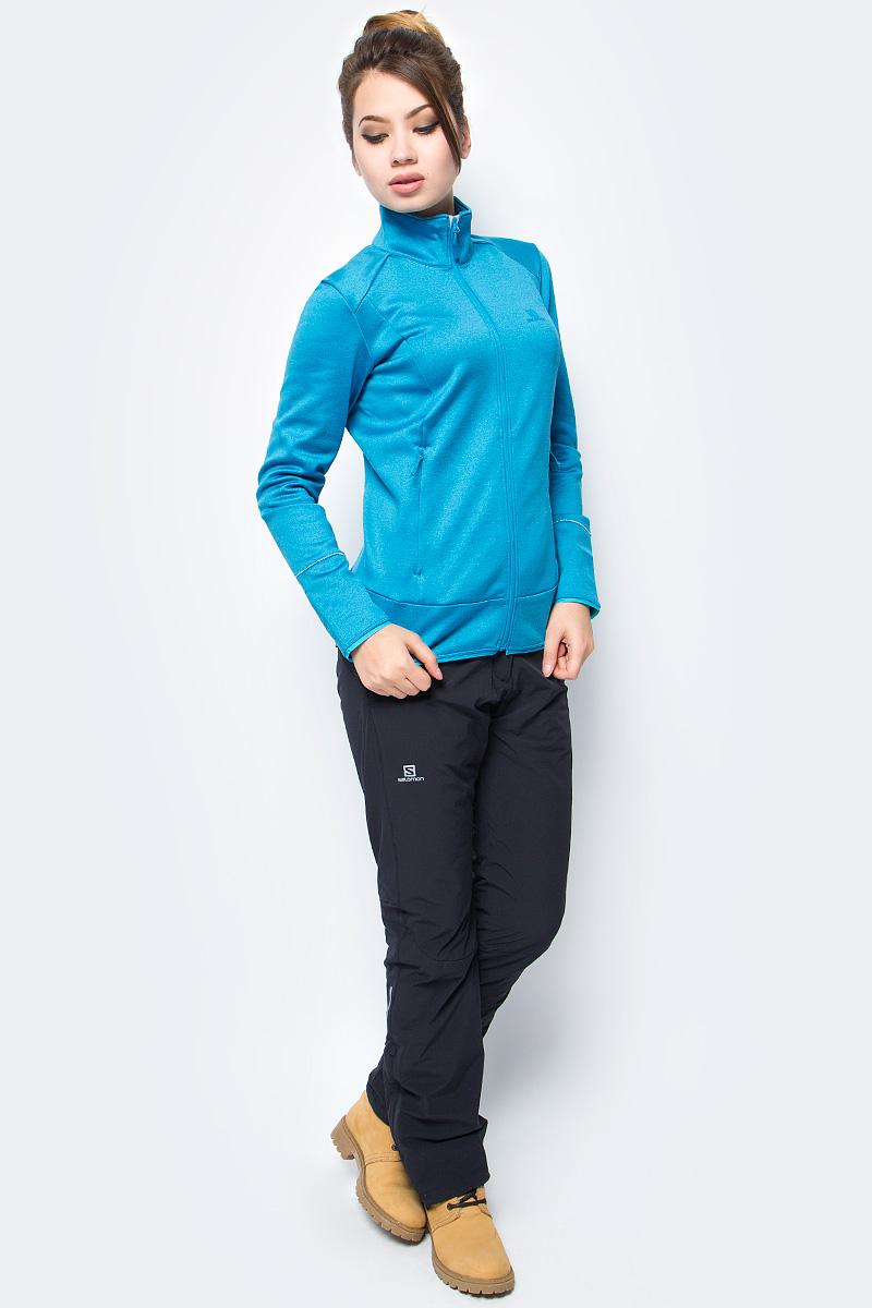Толстовка женская Salomon Discovery FZ W, цвет: голубой. L39768600. Размер M (44/46)L39768600Женский джемпер DISCOVERY FZ имеет привлекательный вид и подходит для любого времени года. Удобно носить под лыжной курткой или на специальной футболке. Благодаря градиентной окраске волокна радует глаз нежными цветовыми переходами и выглядит очень женственно. Незаменимая вещь для любителей веселья и приключений весь год напролет.
