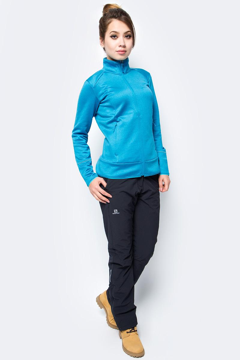 Брюки утепленные женские Salomon Nova Pant W, цвет: черный. L39785700. Размер S (40/42)L39785700Женские брюки NOVA PANT созданы многофункциональными. Эта одежда подходит для разных видов спорта и другой активности. Надевайте их во время катания на беговых лыжах, прогулки на снегоступах или в зимнем походе. Благодаря молнии брюки легко натягиваются на самые разные ботинки.