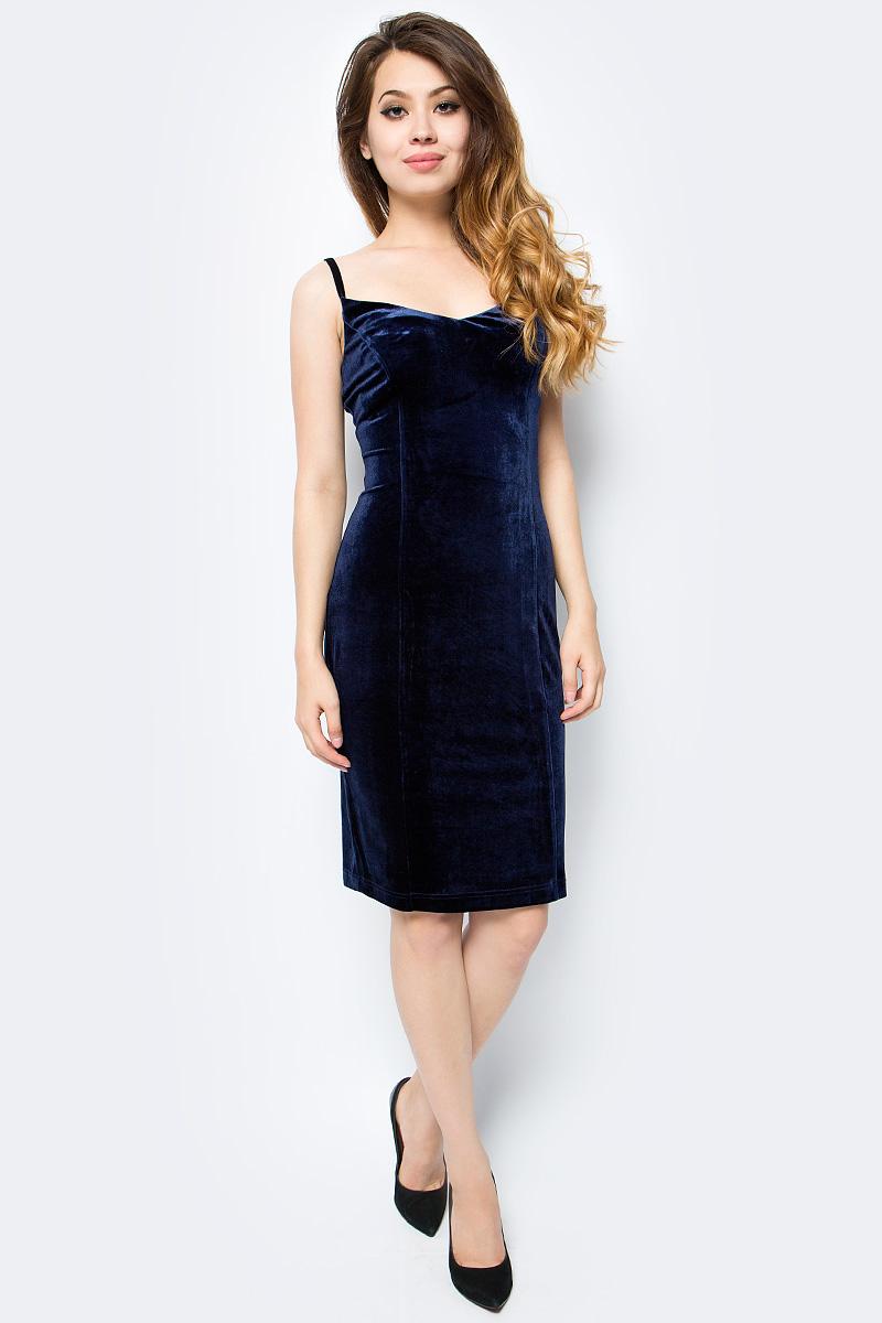 Платье женское La Via Estelar, цвет: синий. 10205-3. Размер 4410205-3