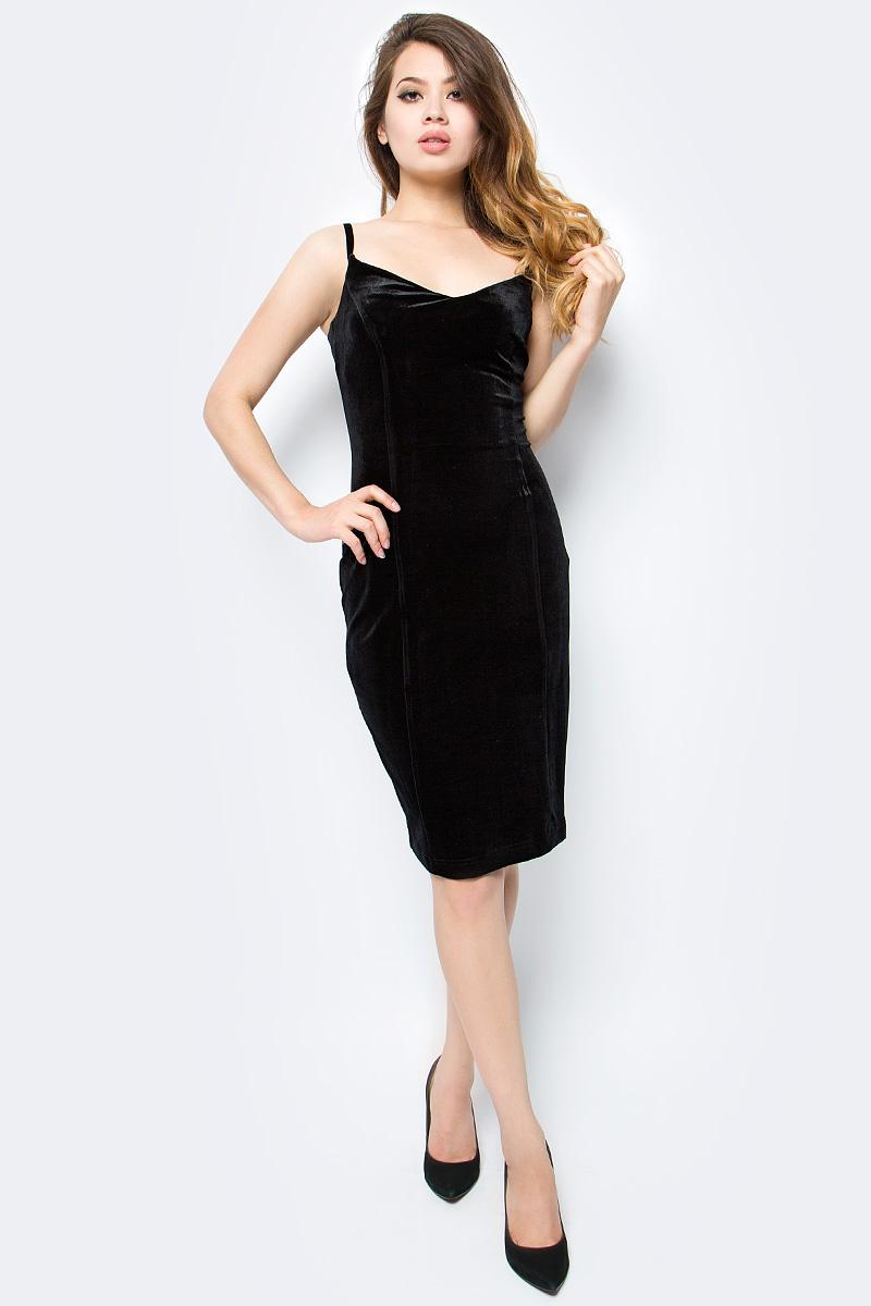 Платье женское La Via Estelar, цвет: черный. 10205-1. Размер 4810205-1