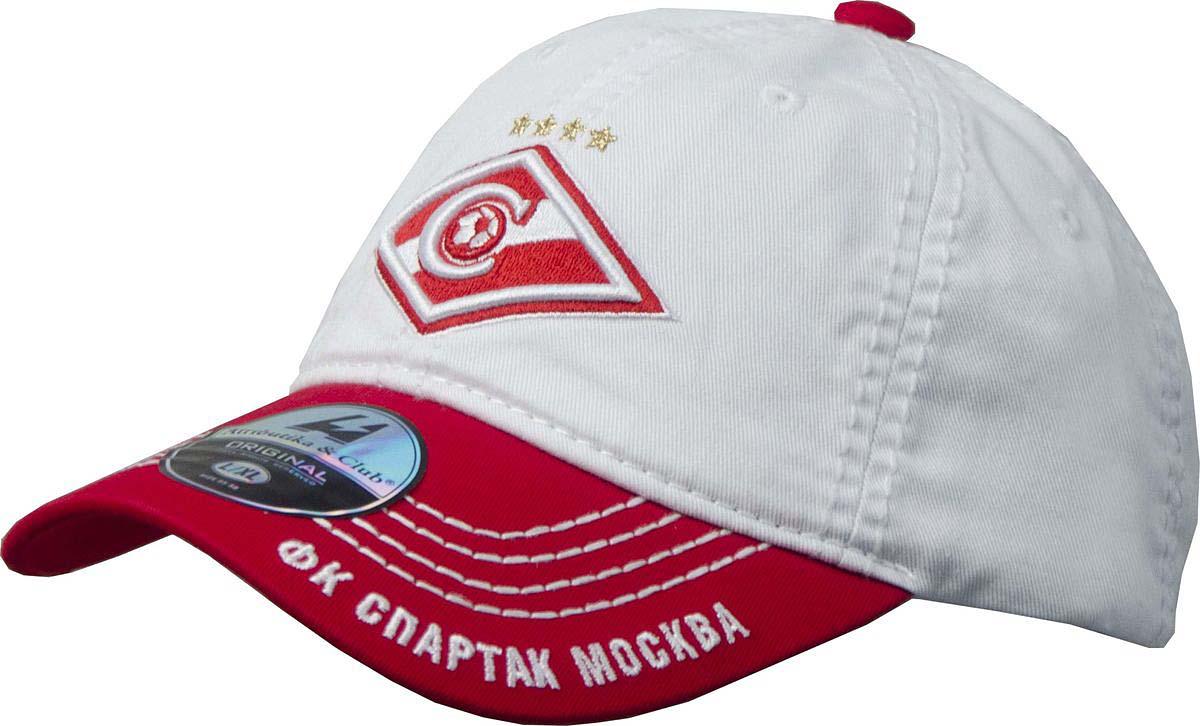 Бейсболка Atributika & Club Спартак ФК, цвет: белый, красный. 120244. Размер 55/58120244