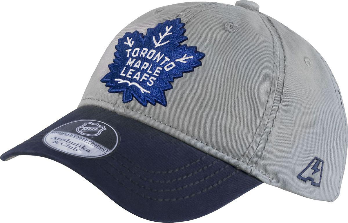 Бейсболка детская Atributika & Club Toronto Maple Leafs, цвет: серый. 29088. Размер 52/5429088Бейсболка выполнена из высококачественного материала. Модель дополнена широким твердым козырьком и оформлена объемной вышивкой.