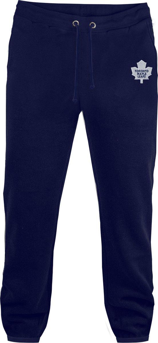 Брюки спортивные мужские Atributika & Club Toronto Maple Leafs, цвет: темно-синий. 45200. Размер XL (52/54)45200Мужские спортивные брюки великолепно подойдут для отдыха и занятий спортом. Брюки с широкой эластичной резинкой в поясе.