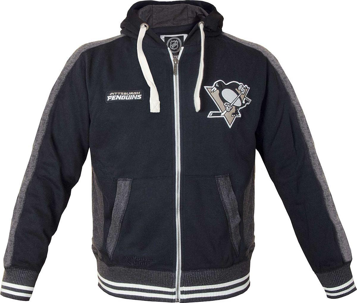 Толстовка мужская Atributika & Club Pittsburgh Penguins, цвет: черный. 35550. Размер S (46/48)35550
