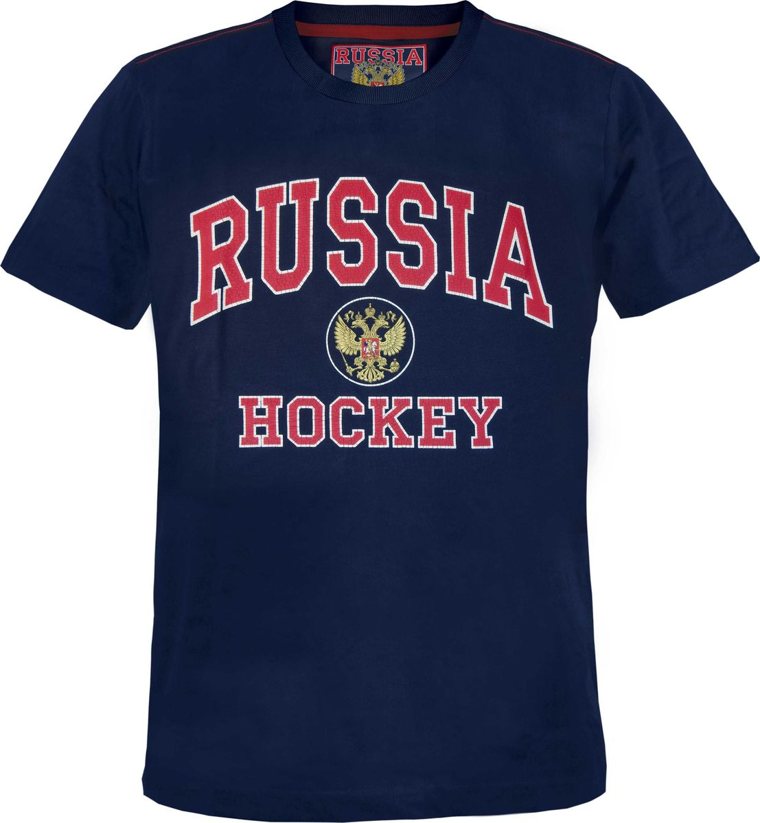 Футболка мужская Atributika & Club Россия, цвет: темно-синий. 131800. Размер S (46)131800