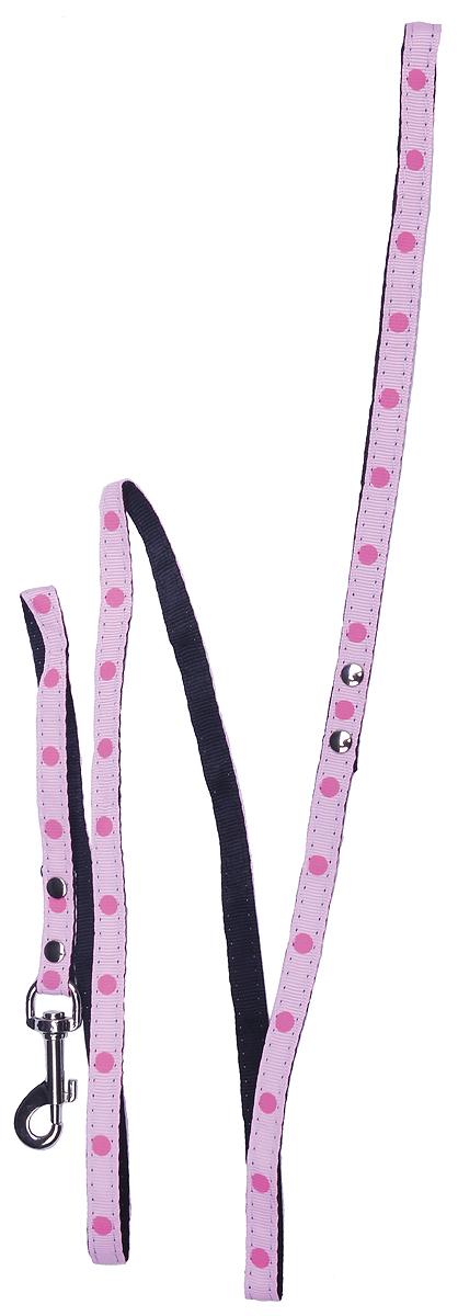 Комплект для животных GLG: шлейка, поводок, цвет: розовый, 84-115 смAM827-2-L-P