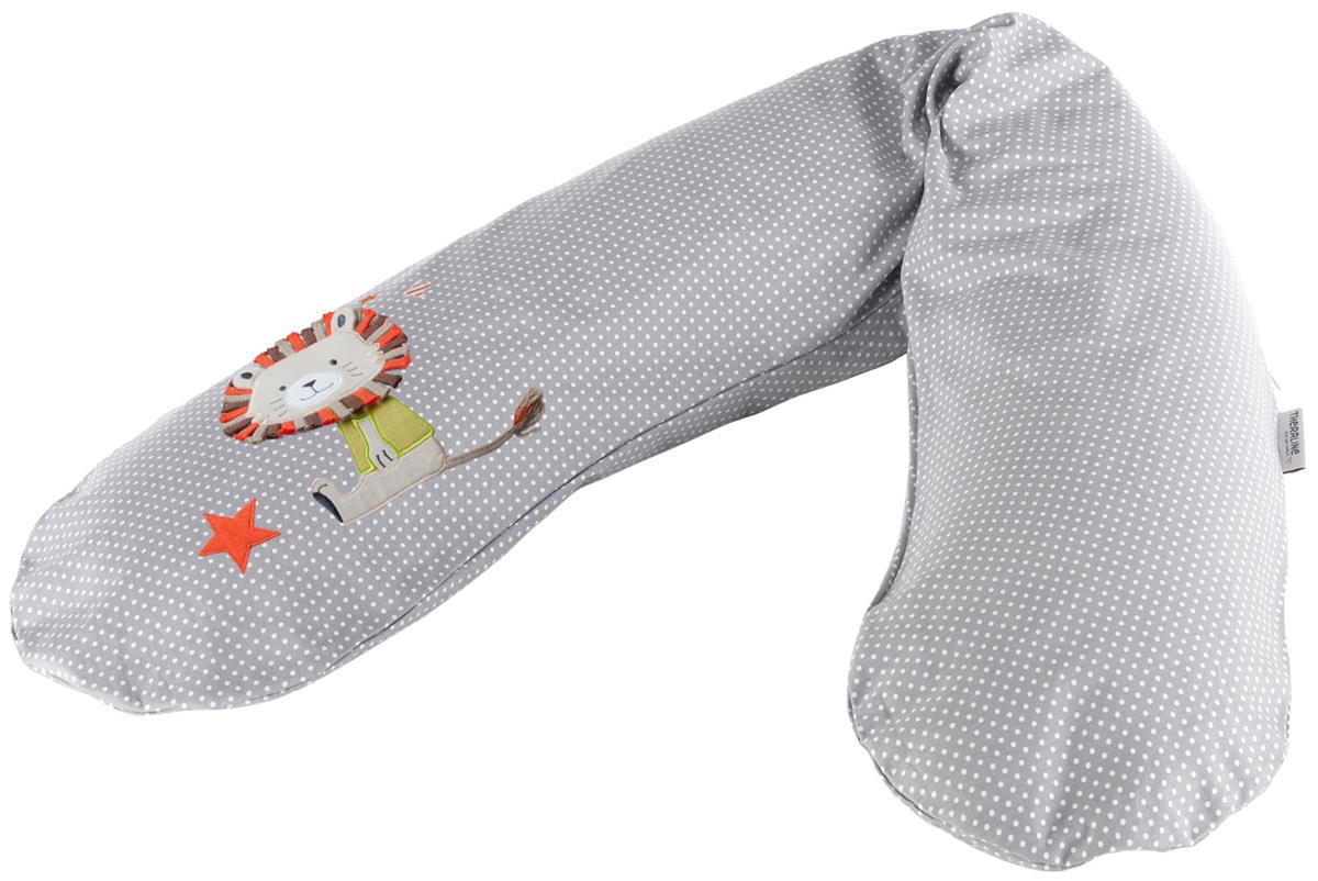 TheraLine Подушка для беременных и кормящих мам Лев цвет серый 190 см -  Подушки для беременных и кормящих