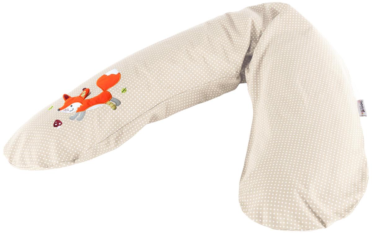 TheraLine Подушка для беременных и кормящих мам Лиса цвет бежевый 190 см -  Подушки для беременных и кормящих