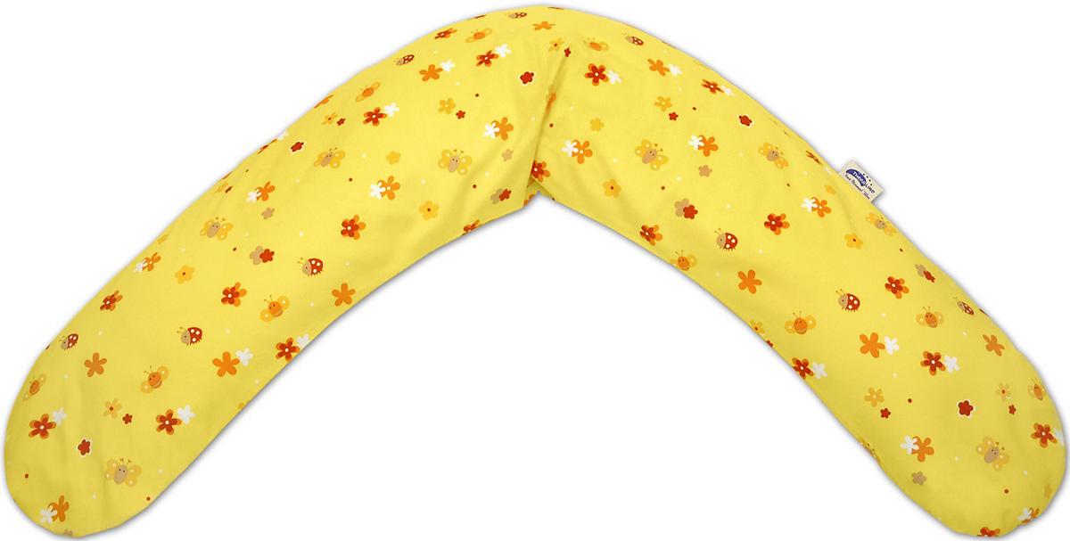TheraLine Подушка для беременных и кормящих мам Поляна цвет желтый 190 см -  Подушки для беременных и кормящих