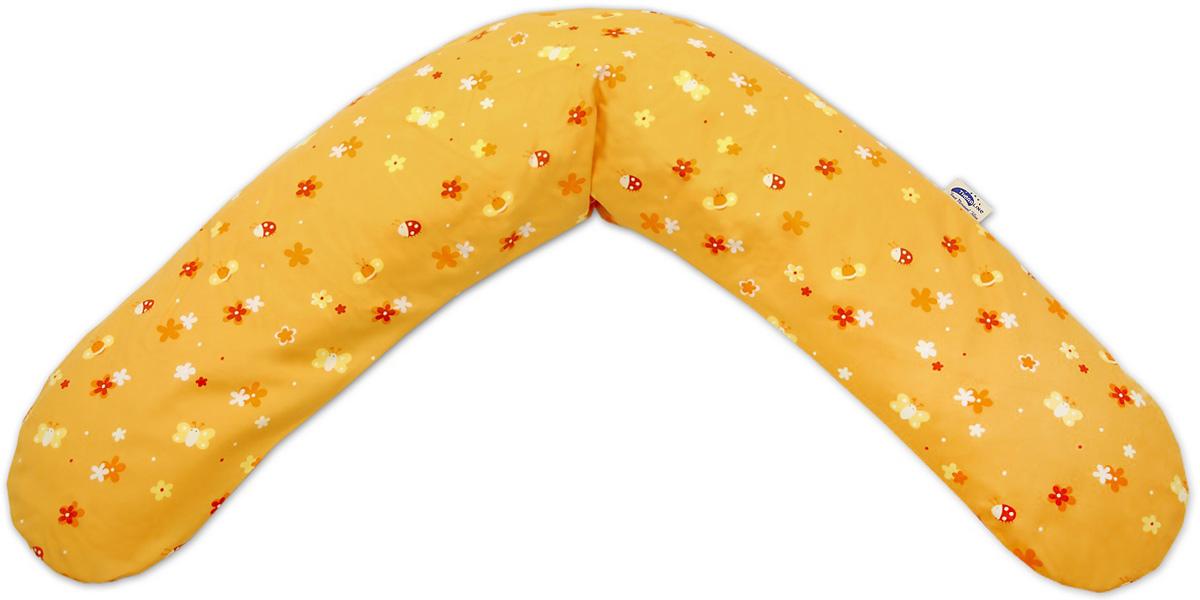 TheraLine Подушка для беременных и кормящих мам Поляна цвет оранжевый 190 см51018600Подушка Theraline необходима для беременных и кормящих мам во время сна, отдыха и кормления малыша.Наполнитель представляет собой мелкие (всего 0,5-1,5 мм!!!) полистироловые шарики, гипоаллергенные, без запаха, абсолютно безвредные для здоровья,что подтверждено результатами немецкого OKO-Test.