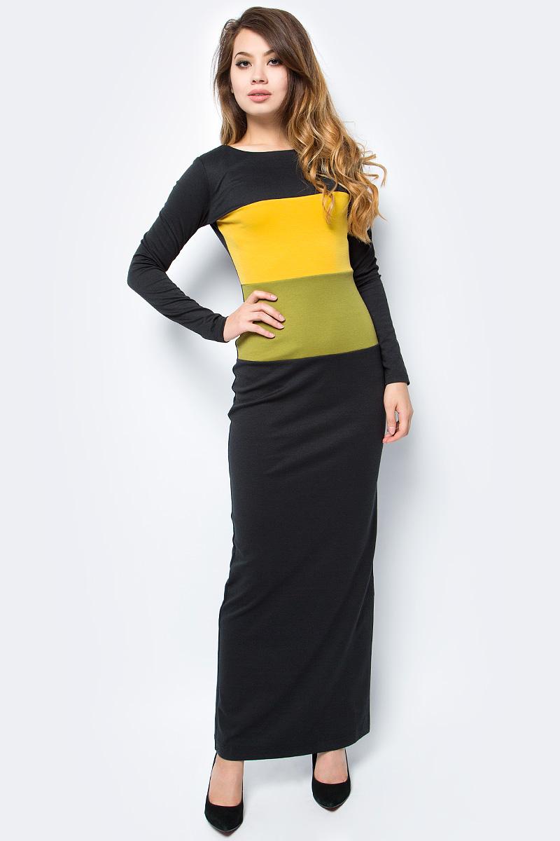 Платье женское La Via Estelar, цвет: черный. 14203-1. Размер 4614203-1