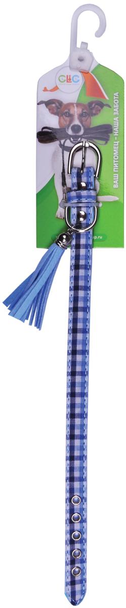 Ошейник для собак GLG, цвет: синий, 1,3 х 30 смAMF1300-30-B