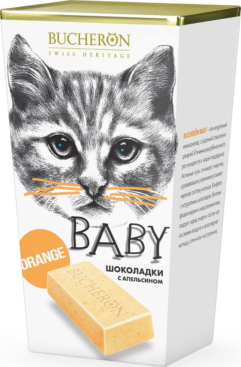 Bucheron Baby белый шоколад с кусочками апельсина Box, 171 г14.5930Нежный белый шоколад BUCHERON BABY содержит кусочки сочного марокканского апельсина, который богат витаминами и формирует узнаваемый энергичный вкус.