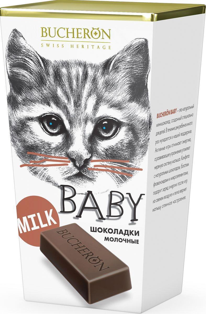 Bucheron Baby молочный шоколад Box, 171 г14.5978Превосходный молочный шоколад Bucheron Baby идеально подходит детям и их мамам, ведь он восхитительно нежен и содержит так много молока.