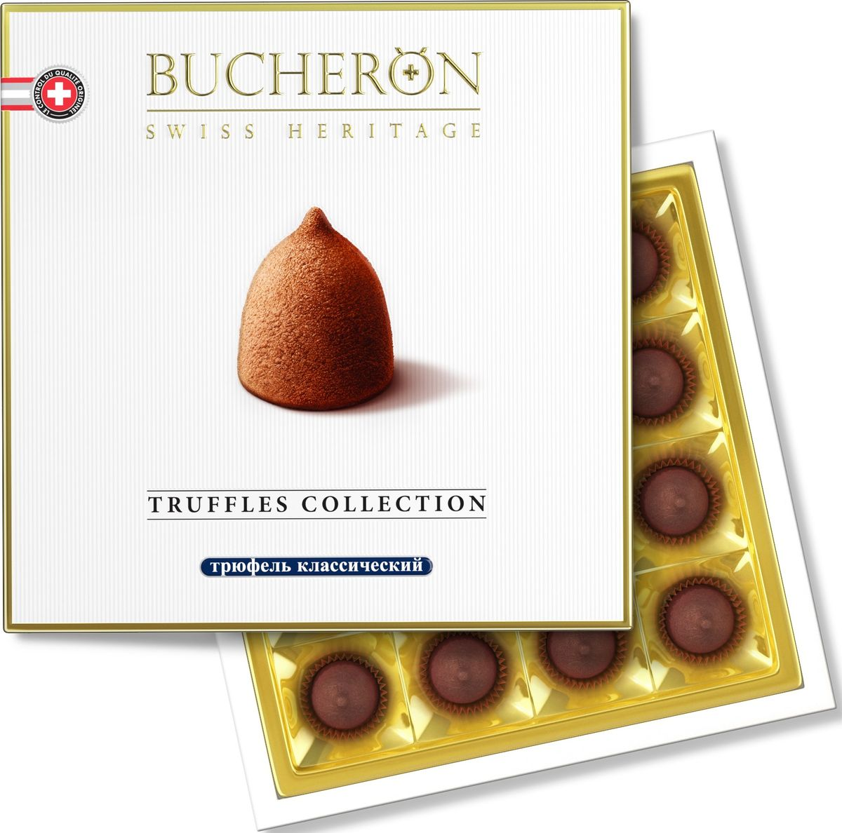 Bucheron трюфель классический, 225 г16.5831Аппетитные трюфели BUCHERON TRUFFLES COLLECTION, приготовленные по классическому рецепту из отборных какао-бобов, собранных на Берегу Слоновой Кости, и натурального какао-масла.