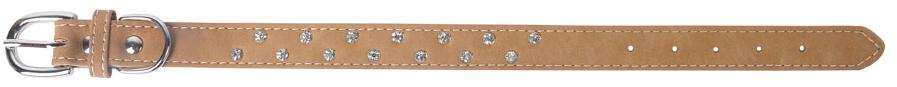 Ошейник для собак GLG, цвет: песочный, ширина 2 см, обхват шеи 28-33 смAMG0815-18-36Ошейник для собак GLG изготовлен из искусственной кожи, устойчивой к влажности и перепадам температур. Клеевой слой, сверхпрочные нити, крепкие металлические элементы делают ошейник надежным и долговечным.Изделие отличается высоким качеством, удобством и универсальностью. Ошейник украшен стразами.Размер ошейника регулируется при помощи пряжки, зафиксированной на одном из 5 отверстий. Минимальный обхват шеи: 28 см. Максимальный обхват шеи: 33 см. Ширина: 2 см.