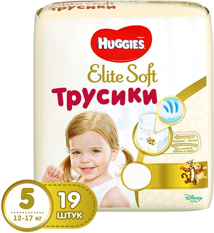 Huggies Подгузники-трусики Elite Soft 12-17 кг (размер 5) 19 шт -  Подгузники и пеленки
