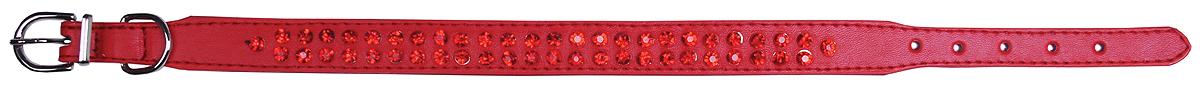 Ошейник для собак GLG, цвет: красный, 2 х 32 см. Размер MAMG0819-32-R