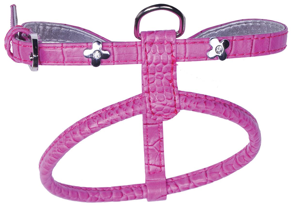 Шлейка для собак GLG Flower, цвет: розовый, 84-115 см. Размер LAMS1102-H-L-P