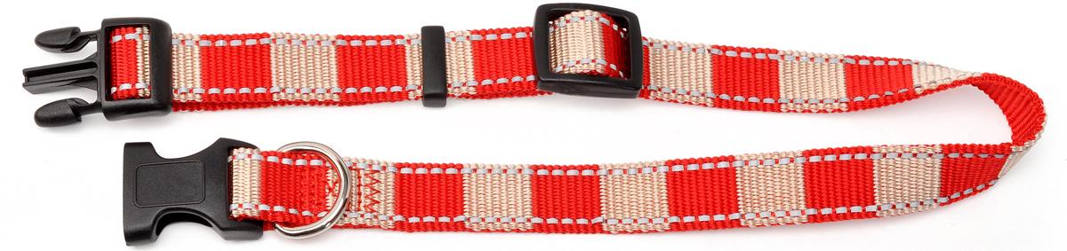 Ошейник для собак Camon StripeReflex, цвет: красный, 2 смDC052/AОшейник Camon StripeReflex изготовлен из прочного текстиля. Изделие отличается высоким качеством, удобством и универсальностью.Размер ошейника регулируется. Имеется металлическое кольцо для крепления поводка. Ошейник застегивается с помощью крепления-фастекса.Модный яркий ошейник Camon StripeReflex станет для питомца отличным украшением и выделит его среди остальных животных. Ширина: 2 см.