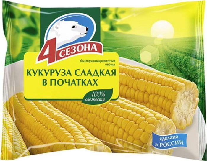 4 Сезона Кукуруза сладкая в початках, 450 г3601078Не размораживать перед приготовлением.