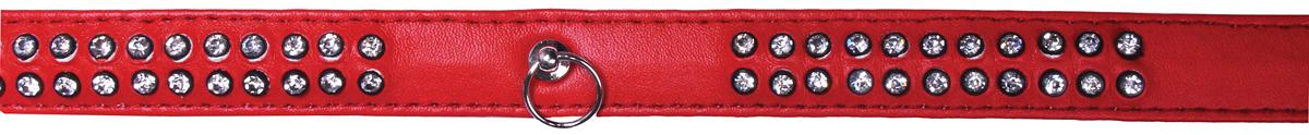 Ошейник для собак GLG, цвет: красный 2 x 48 смAM-DC040/B-48-R