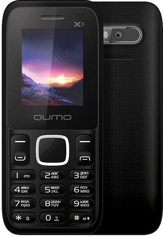 Qumo Push X1, Black мобильный телефон qumo push mini white
