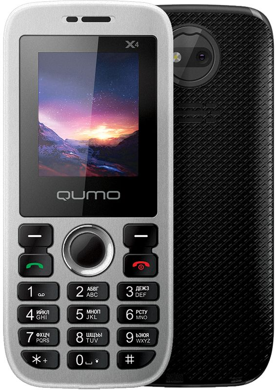 Qumo Push X4, Black21528Мобильный телефон QUMO Push X4 black /1,8 SPREADTRUM/Memory 32MB+32MB/LCD/128x160/2SIM/0.08MP camera/MicroSD/MP3/600mAh/GSM/Black