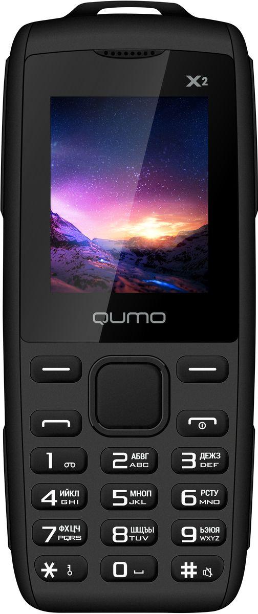 Qumo Push X2, Black22052Телефон QUMO Push X2 - классический кнопочный телефон со всем необходимым функционалом. Отличный выбор для человека, который хочет всегда оставаться на связи.Телефон поддерживает одновременную работу двух SIM-карт, позволит слушать FM-радио, а также проигрывает MP3 файлы.Наличие встроенного музыкального плеера оценят любители музыки, тем более что новый телефон позволяет взять с собой солидную медиатеку: гаджет оборудован слотом для карт памяти microSD.Телефон сертифицирован EAC и имеет русифицированную клавиатуру, меню и Руководство пользователя.