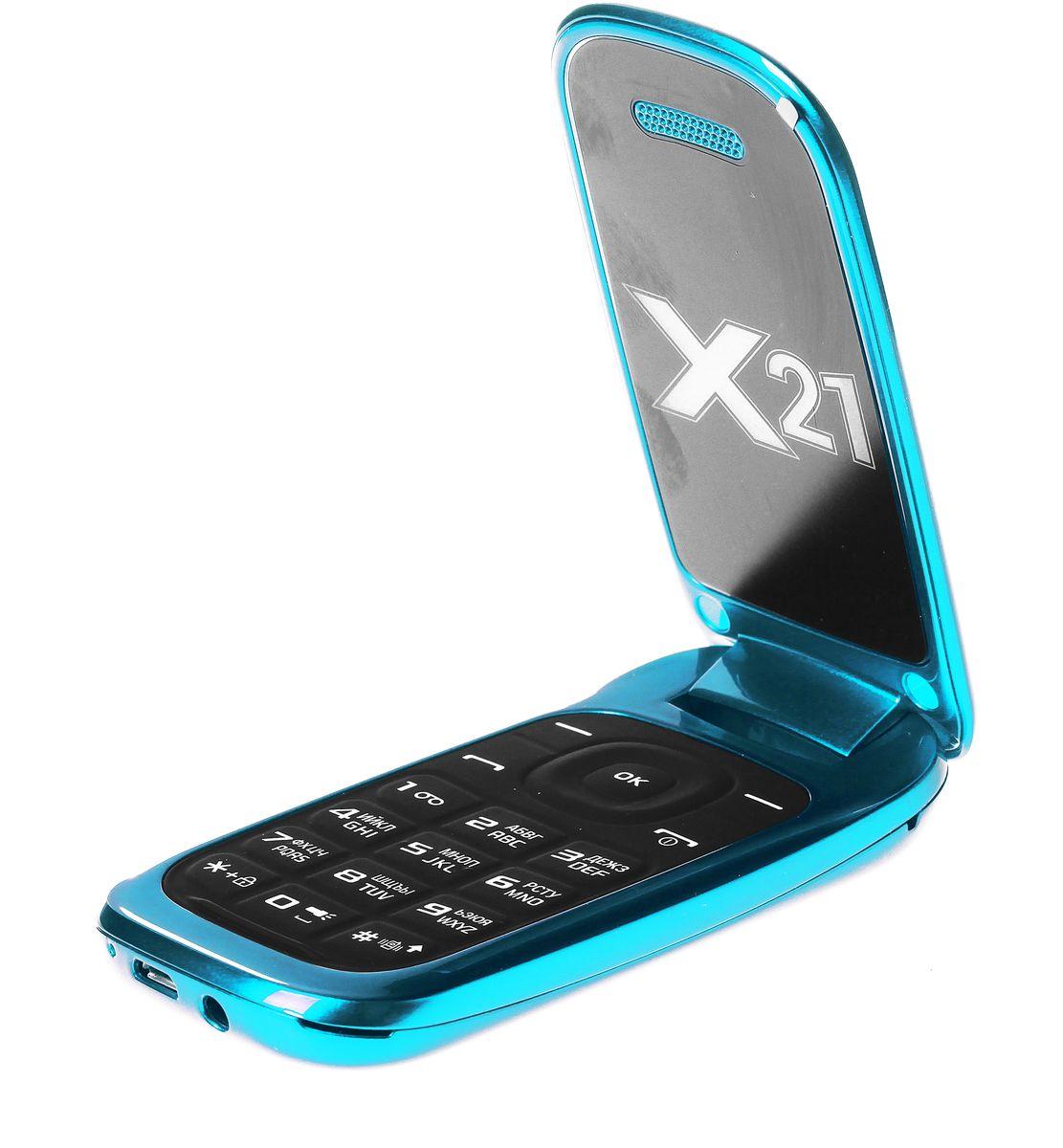 Qumo Push X21, Blue22531Телефон QUMO Push X21 - классическая раскладушка со всем необходимым функционалом. Отличный выбор для человека, который хочет всегда оставаться на связи.Телефон поддерживает одновременную работу двух SIM-карт, позволит слушать FM-радио, а также проигрывает MP3 и MP4 файлы.Наличие встроенного музыкального плеера оценят любители музыки, тем более что новый телефон позволяет взять с собой солидную медиатеку: гаджет оборудован слотом для карт памяти microSD.QUMO Push X21 оборудован полным набором приложений для ежедневного использования: органайзером, диктофоном, будильником, калькулятором.Встроенная Li-Pol батарея повышенной емкости - 800 мАч - позволит оставаться на связи до 2 недель.Телефон сертифицирован EAC и имеет русифицированную клавиатуру, меню и Руководство пользователя.