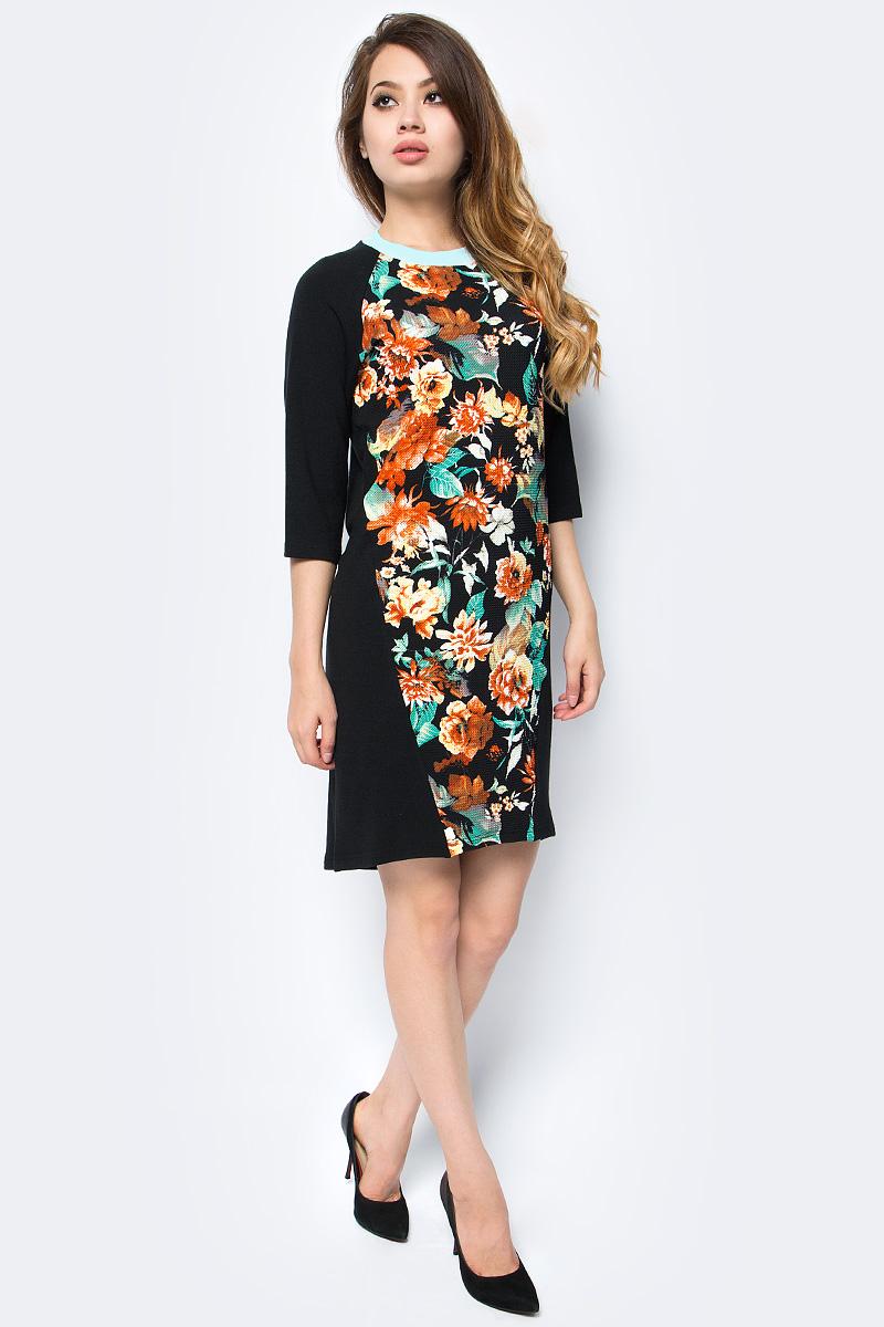 Платье женское La Via Estelar, цвет: черный. 12009. Размер 50
