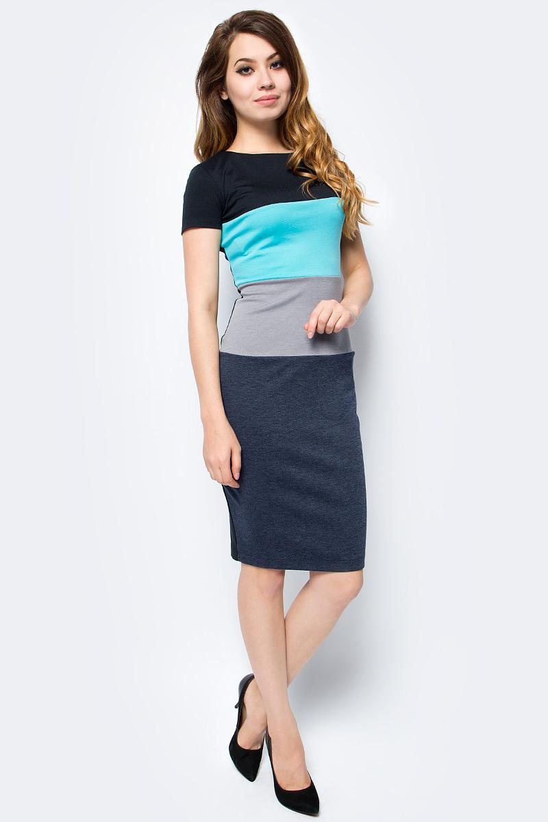 Платье женское La Via Estelar, цвет: мятный, серый. 12003-1. Размер 46 платье la via estelar цвет фиолетовый 14672 2 размер 48