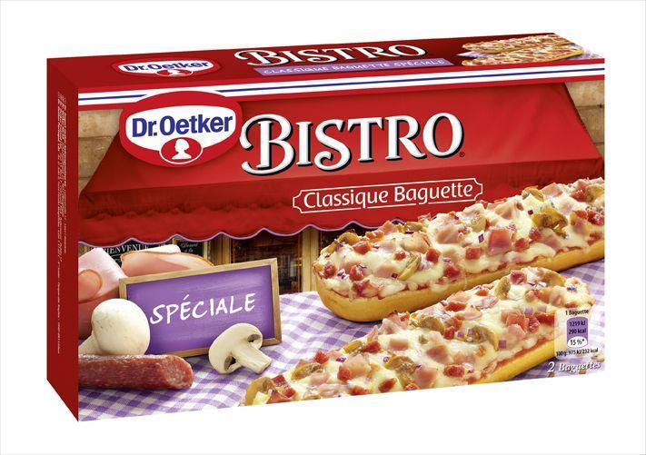 Dr.Oetker Багет Bistro Специале, 250 г9004189Продукт глубокой заморозки. Багет с сочной начинкой из салями, сыра Эдам и овощей. Хранить при температуре не выше минус 18C.