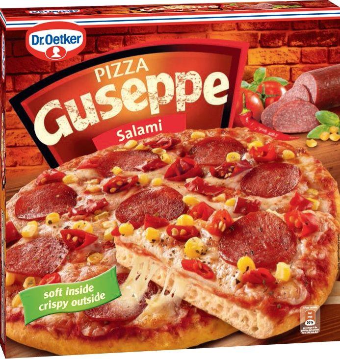 Dr.Oetker Пицца Guseppe Салями, пышное тесто, 380 г902117Пицца Ristorante - вкусно, как в настоящей итальянской пиццерии! Пицца Ristorante - изысканная итальянская пицца на тонком хрустящем тесте с богатой начинкой.