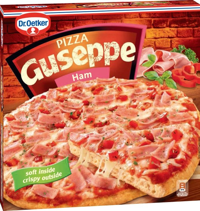 Dr.Oetker Пицца Guseppe Ветчина, пышное тесто, 410 г902118Пицца Ristorante - вкусно, как в настоящей итальянской пиццерии! Пицца Ristorante - изысканная итальянская пицца на тонком хрустящем тесте с богатой начинкой.